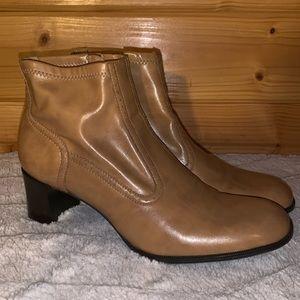 Franco Sarto Leather Heeled Booties